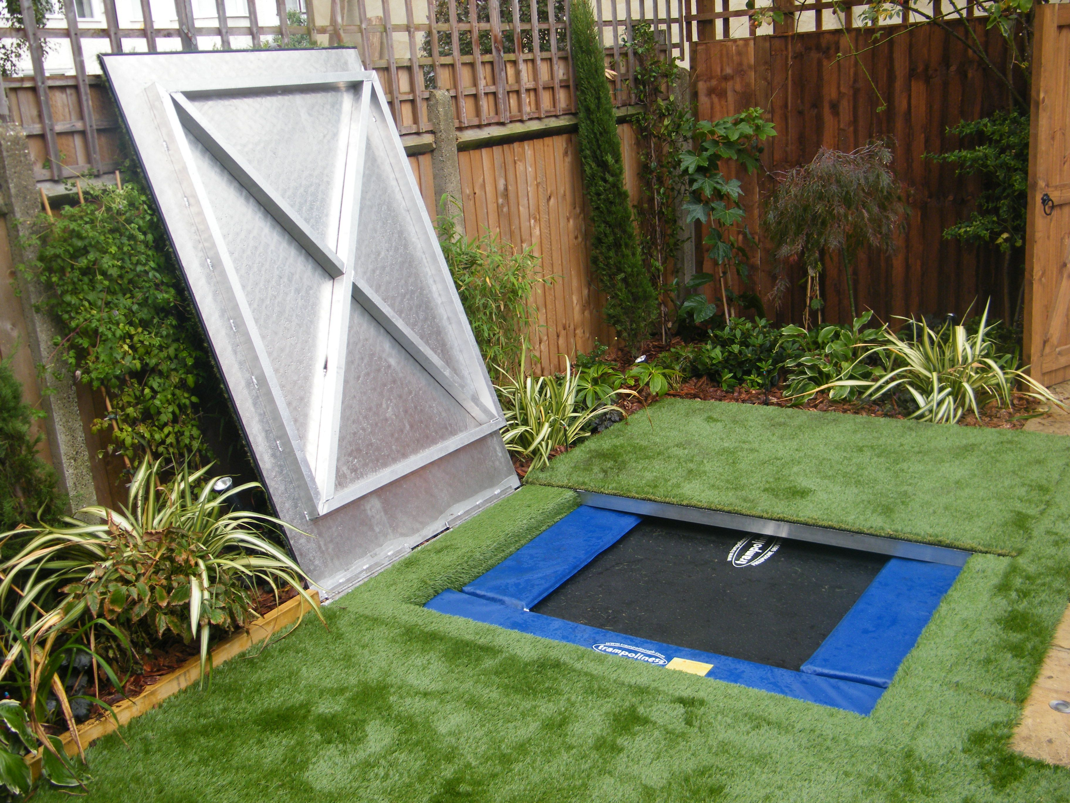Hidden Trampoline   Garden trampoline, Backyard trampoline ...