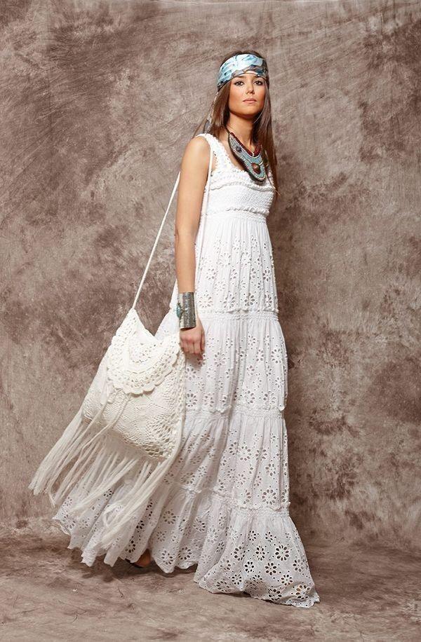 Vestidos largos blancos bohemios