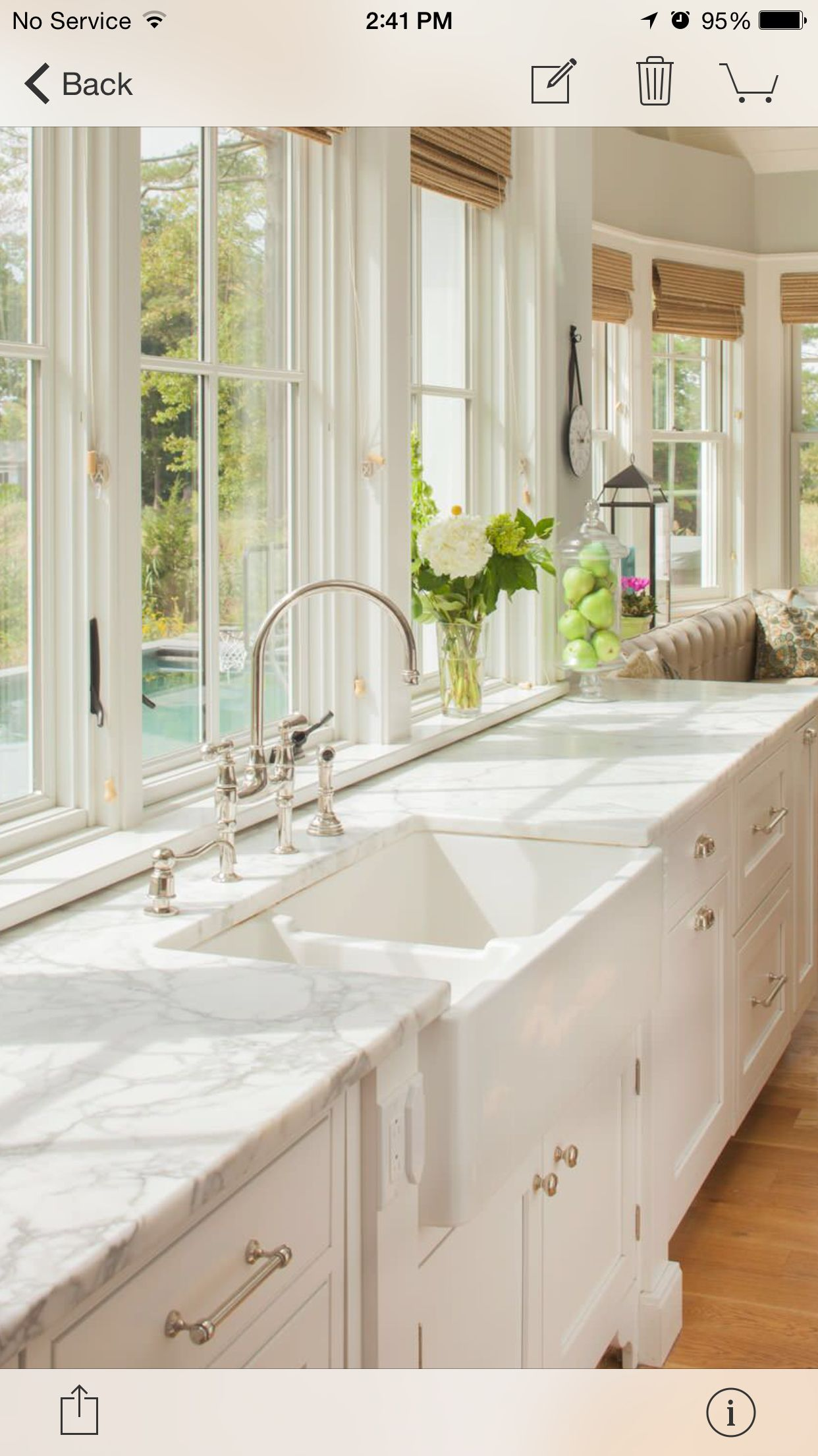Kitchen window over sink  apron sink  kitchen  pinterest  apron sink apron and sinks
