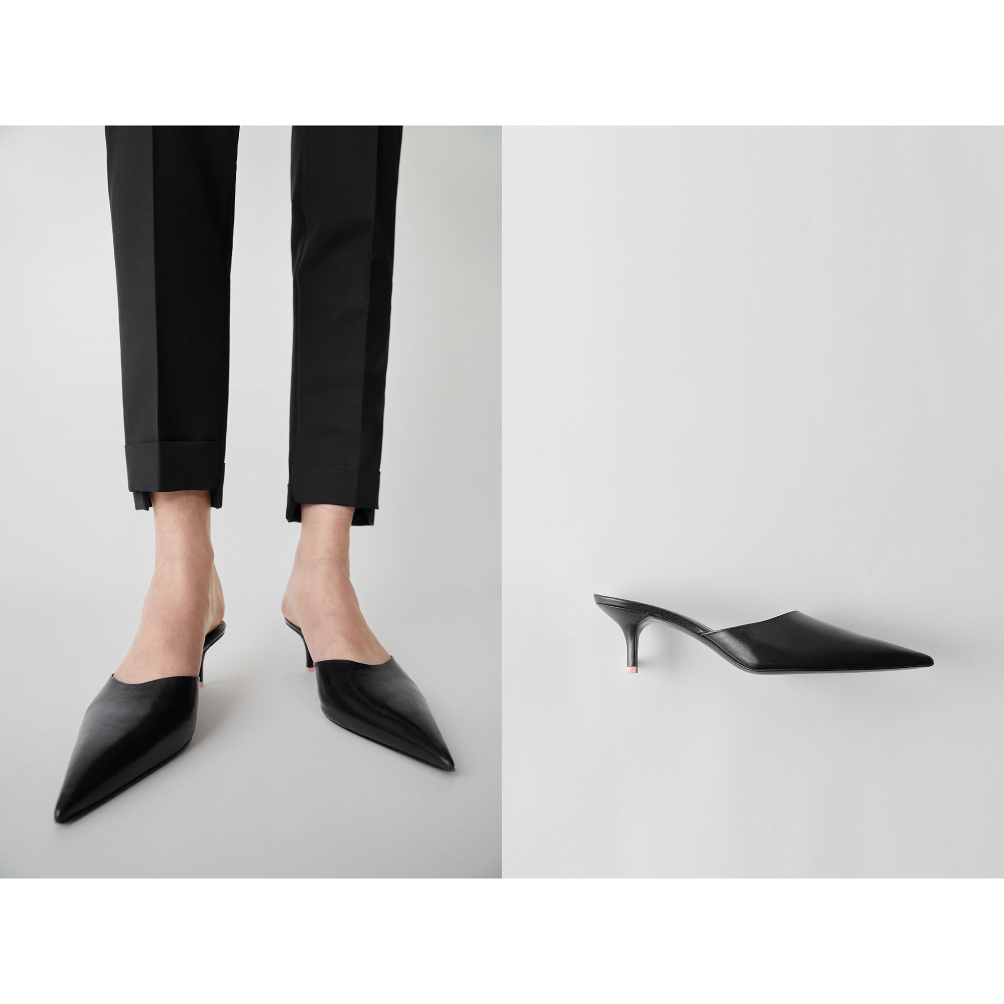The #AcneStudios black mule with long