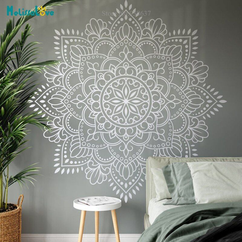 Photo of US $5.98 25% OFF|Mandala Vinyl Wand Kunst Aufkleber Meditation Yoga Studio Dekoration Große Blume Mandala Schlafzimmer Wohnzimmer Decor Tapete BA699 1|Wandaufkleber|   – AliExpress
