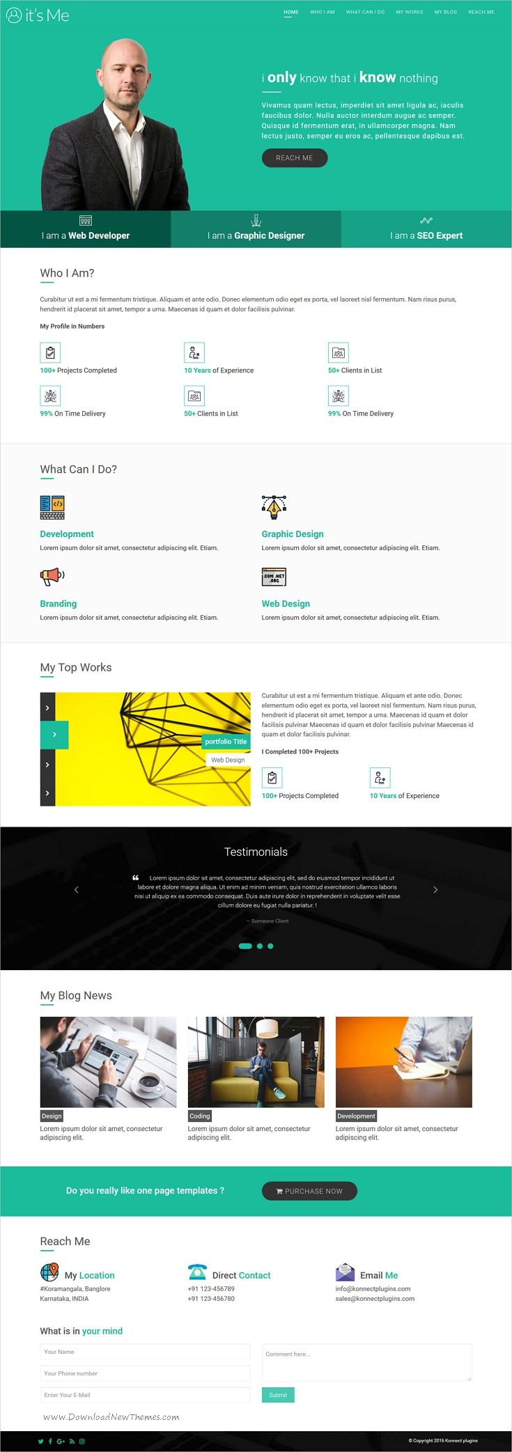 It\'s me is a clean and modern design responsive #HTML #bootstrap ...
