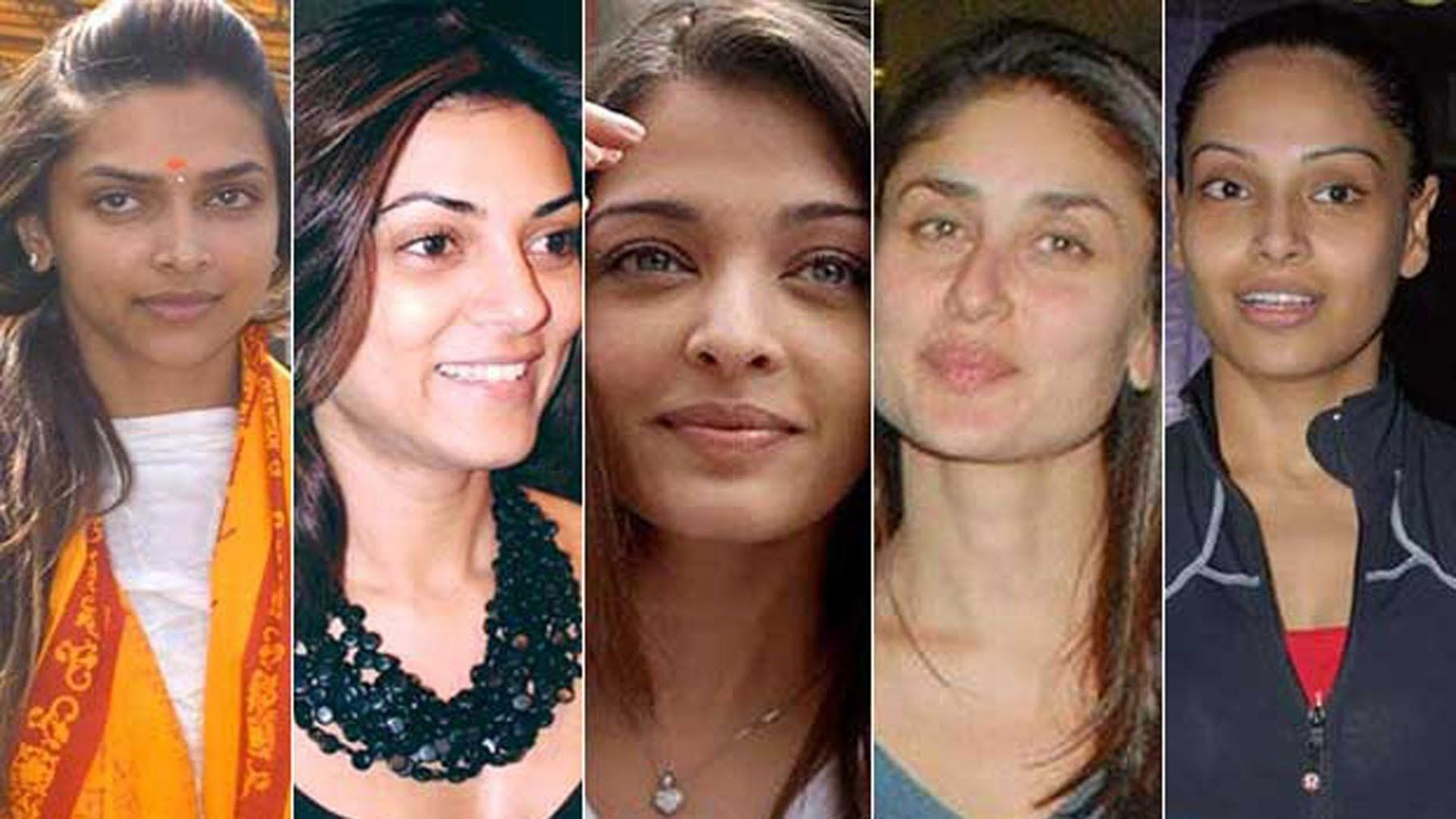 20 bollywood actresses with and without makeup | 20 bollywood