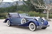 1937 853 Cabriolet Horch Luxus Retro Sport Oldtimer Wallpaper Hintergrund – …  – Classic ca…