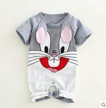 2fbfdfa28a6 Bebé recién nacido mamelucos de algodón Orejas de conejo encantadores del  bebé niñas de manga corta traje de bebé Monos roupas bebes ropa infantil (China)
