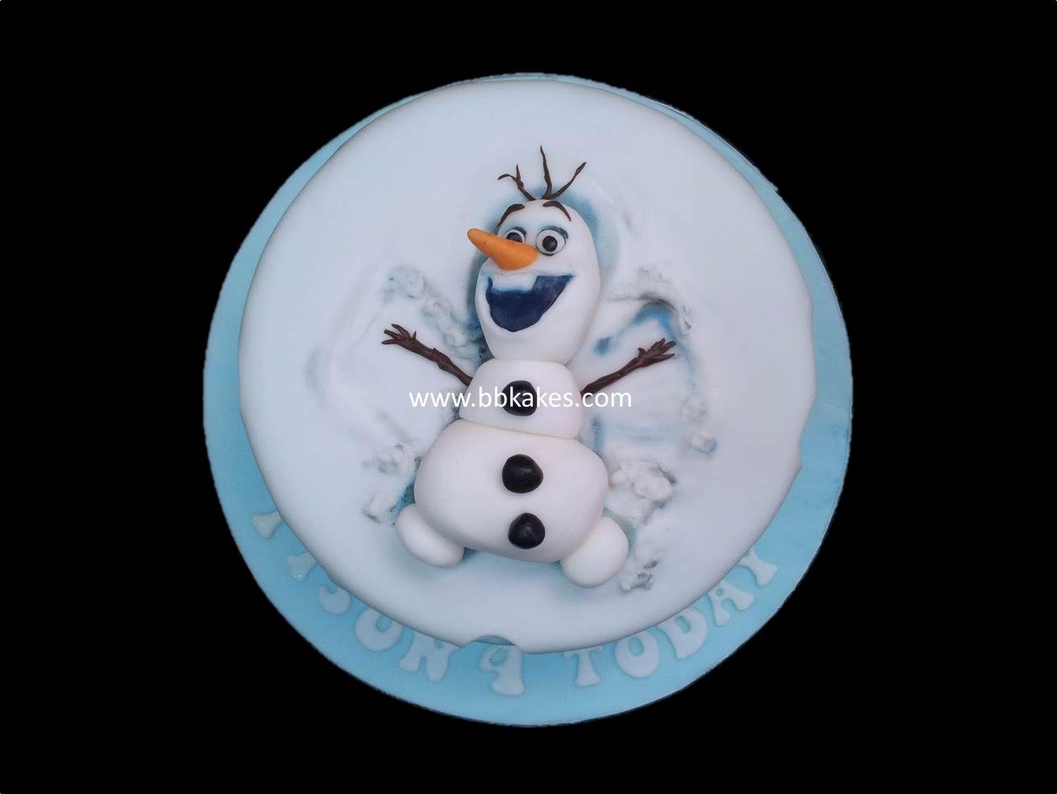 Frozen Olaf Snow Angel Cake Bbkakes Childrens Birthday Cakes
