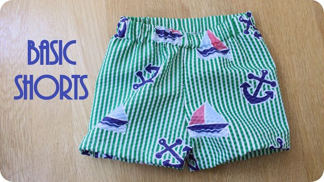 Basic Shorts Tutorial - Peek-a-Boo Pages - Sew Something Special ...