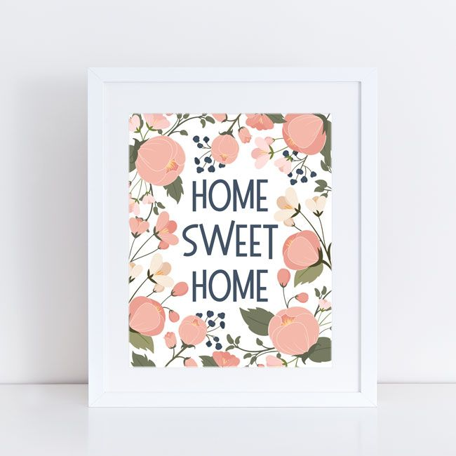 free printable home sweet home print from paper crave wallart