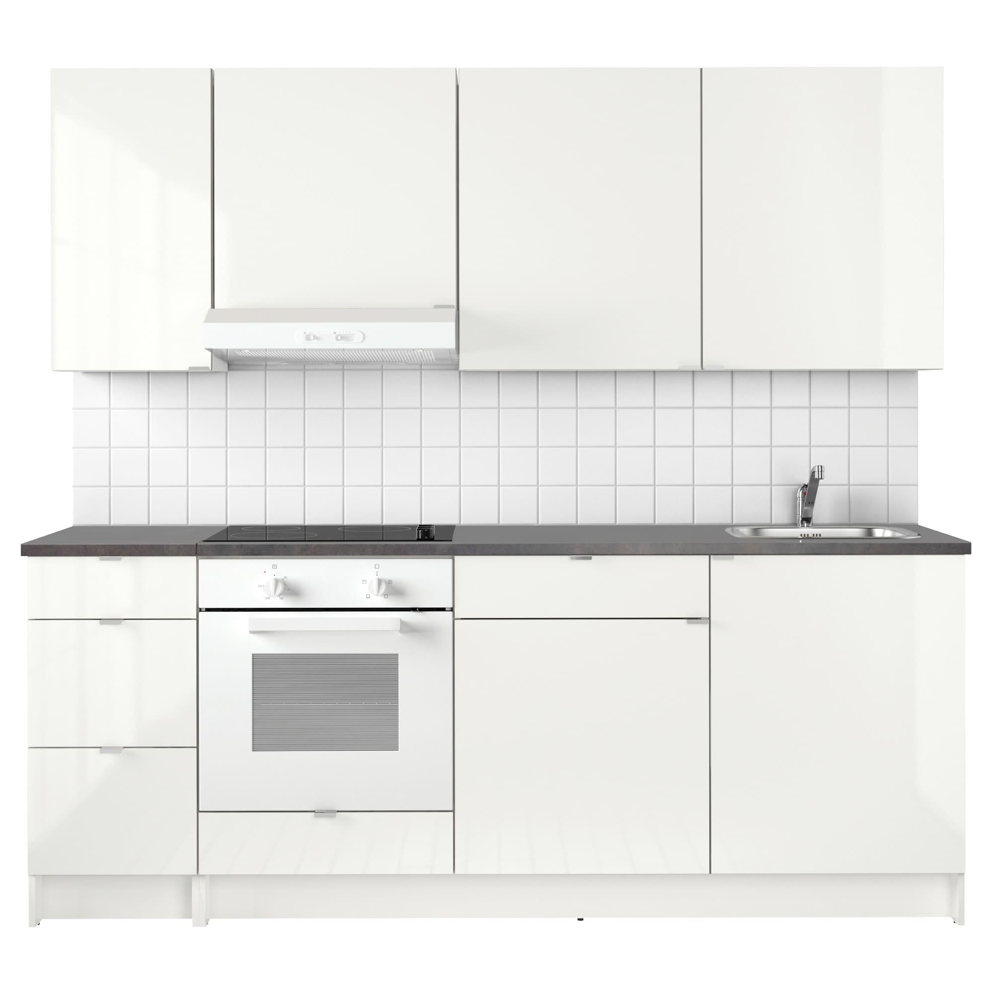 KNOXHULT Küche Hochglanz weiß Küche hochglanz weiss