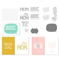 For Mom Greeting Card Templates - Digital Download for My Digital Studio (MDS) from Stampin Up!. 3 card templates and a 16 piece SVG stamp brush set included in this great Mother's day greeting card download. www.PattyStamps.com
