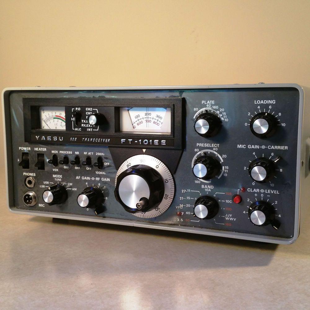 Yaesu Ft 101ee Hf Transceiver With Cw And Ssb Filters Ham Radio Ham Radio Radio Shortwave Radio