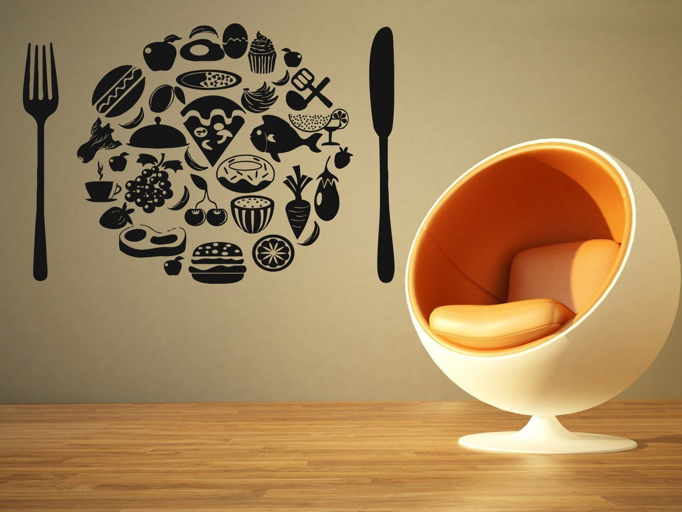Wall Room Decor Art Vinyl Sticker Mural Decal Restaurant Food Sign ...