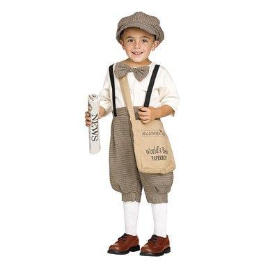 Toddler Retro Newsboy Costume – 1930s Costume #scentsylaborday