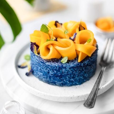 Blue Butterfly Mango Rose Sticky Rice