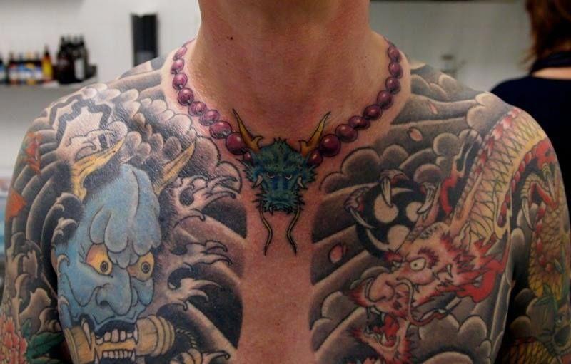 Necklace Tattoo Design Hinh Xăm Hinh Xăm Ngực Hinh Xăm Nhật