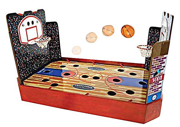 Front Porch Classics Bas Ket Wooden Nostalgic Table Top Basketball Game