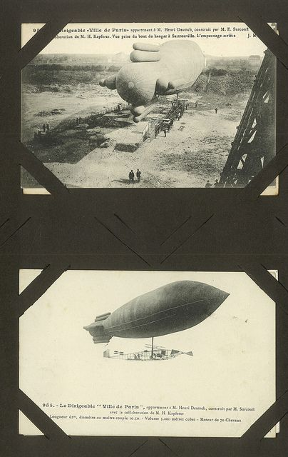 postcards of airships and zeppelins