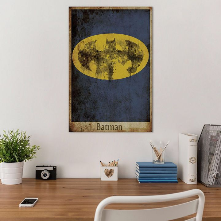 icanvas icanvas batman logo canvas art diyhomedecor on icanvas wall art id=45151