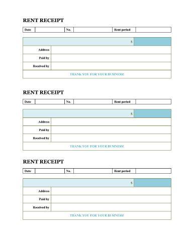 Minimal Design Rent Receipt Three Receipts Per Page Microsoft Word Template Receipt Template Invoice Template Invoice Template Word