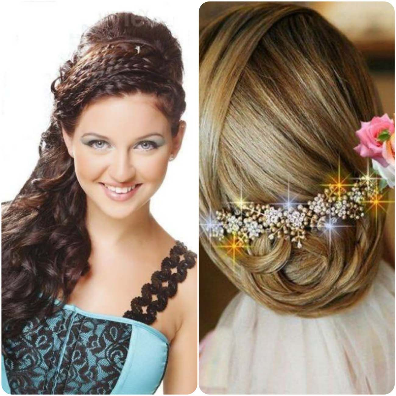 best party hairstyles for long and medium hairs 2016-17.in