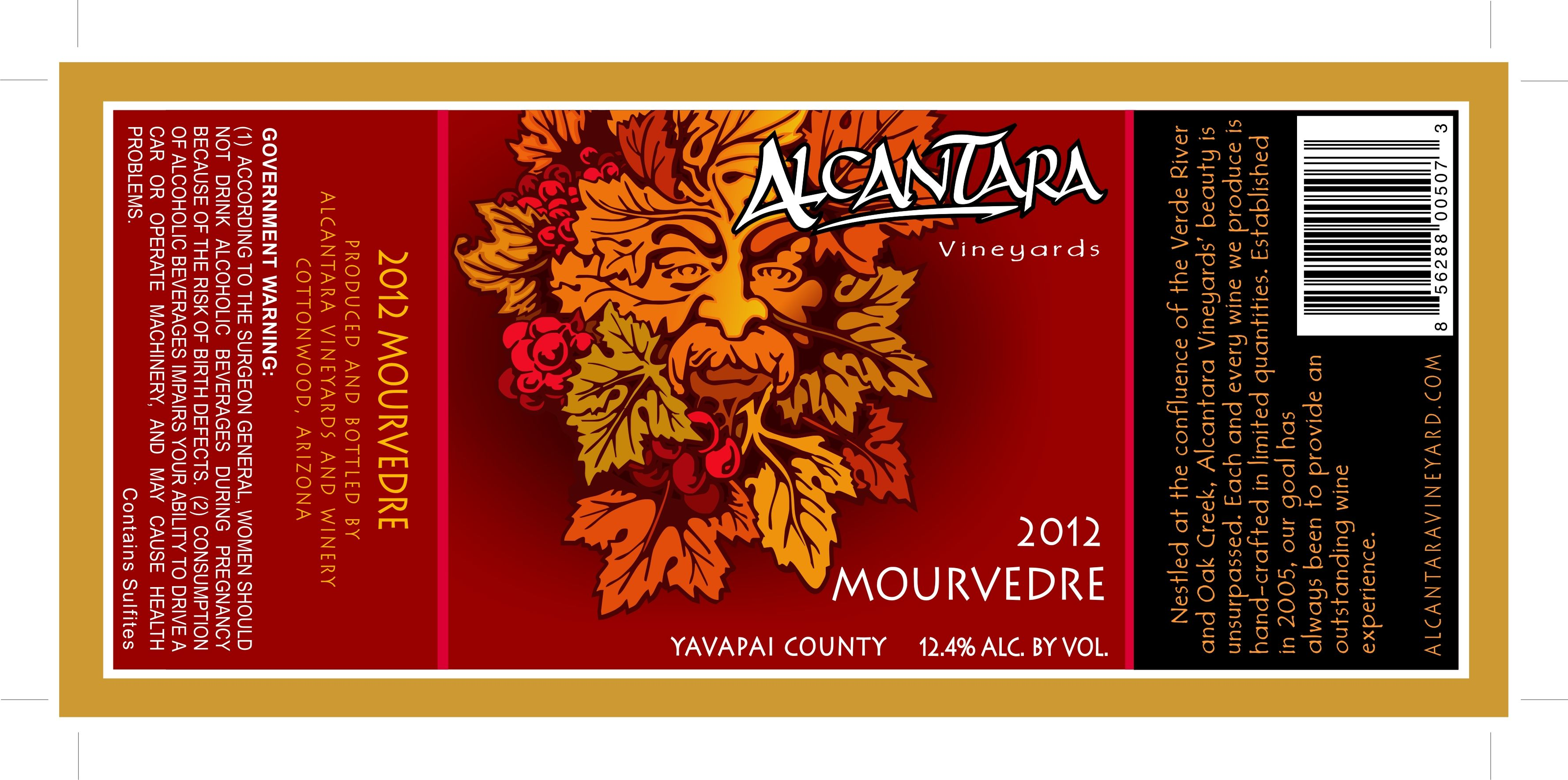 Alcantara Vineyards 2012 Mourvedre Winery Tours Vineyard Zinfandel