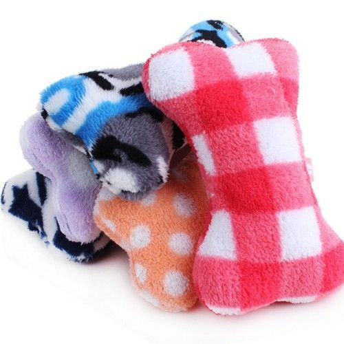 1Pc Funny Plush Cow Pet Dog Puppy Toy Sound Chew Squeaker Squeaky Toys BL
