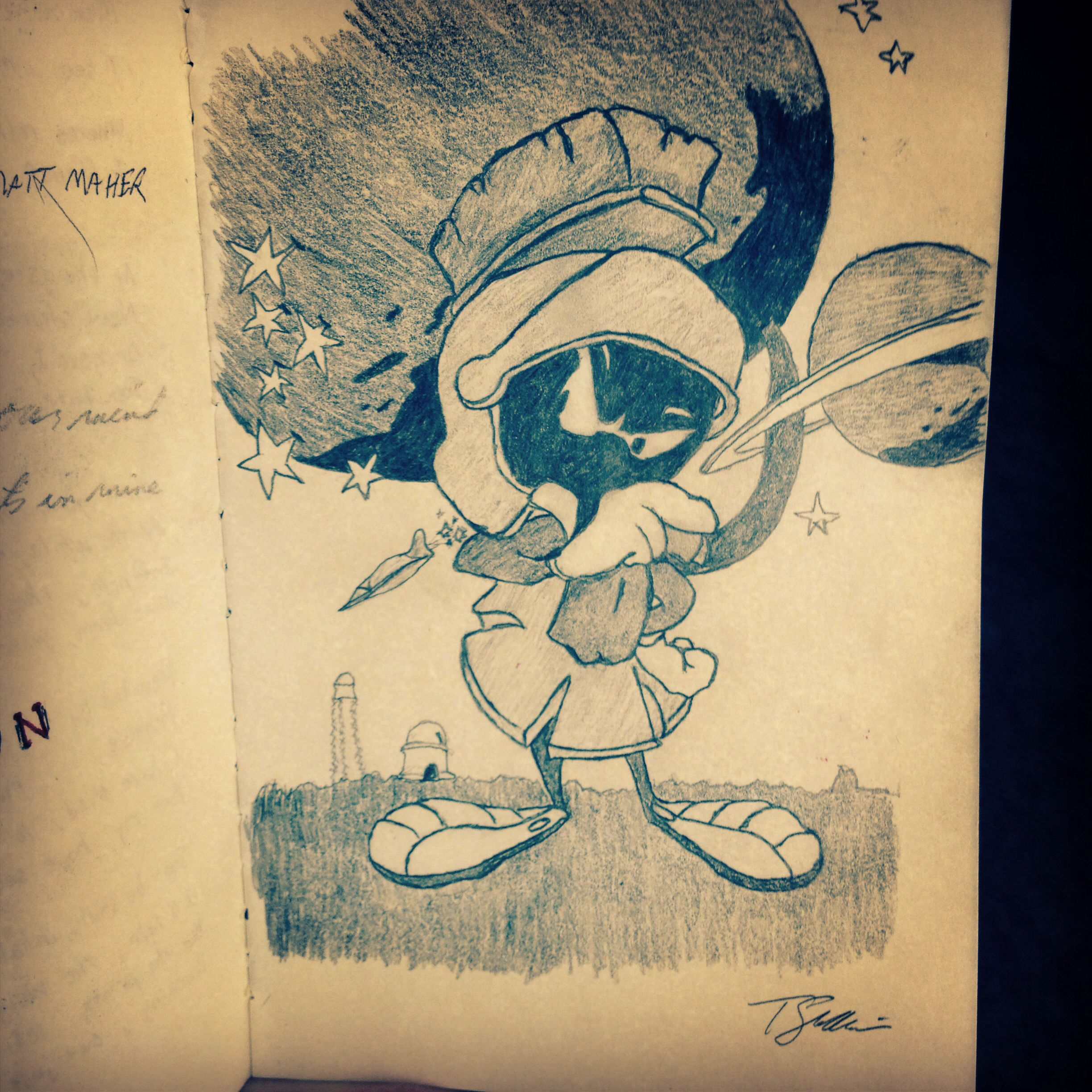 Marvin The Martian Sketch