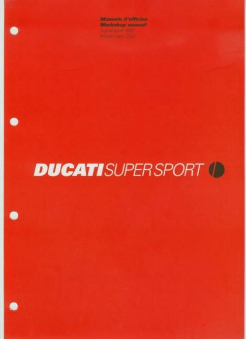 ducati m-900ss , 2001 , original service workshop manual in pdf in english  and italian language download