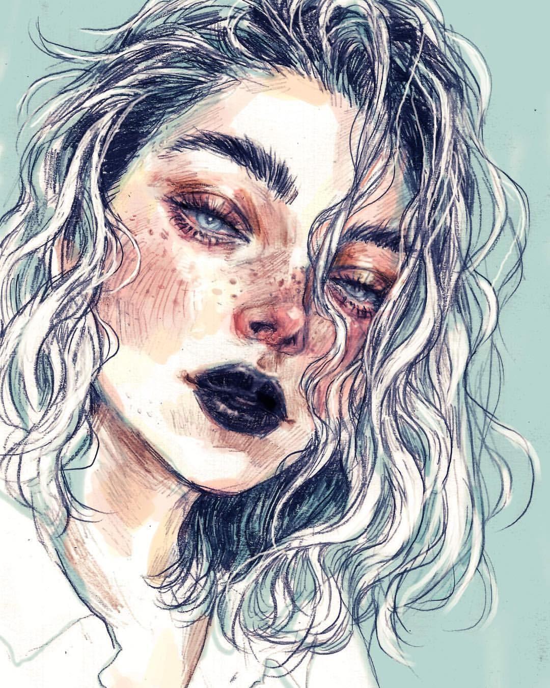 Sad Aesthetic Girl Drawing