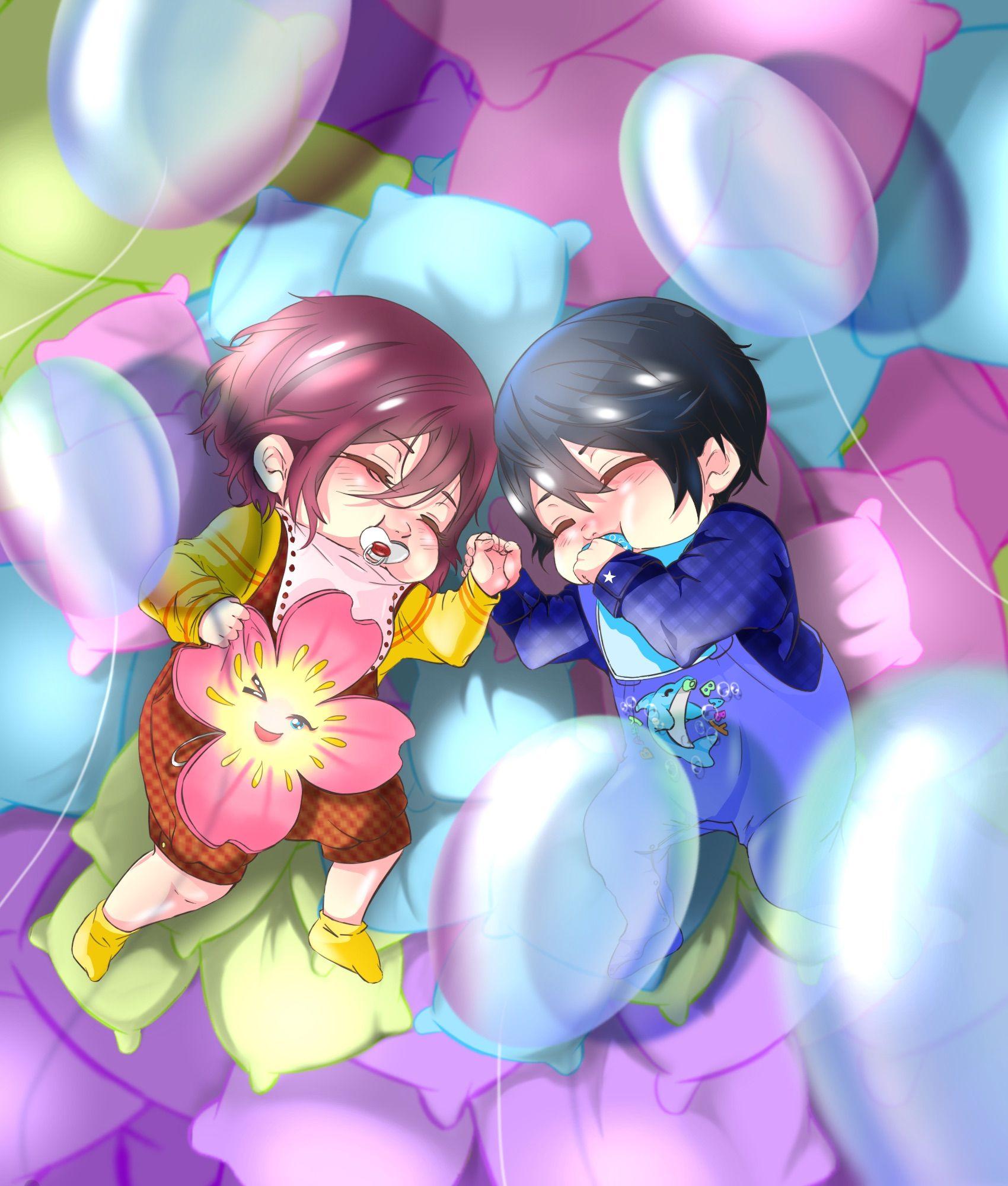 Sweet dream by HaNo0onat ...  Free! - Iwatobi Swim Club, haruka nanase, haru nanase, haru, nanase, haruka, rin matsuoka, rin, matsuoka, free!, iwatobi