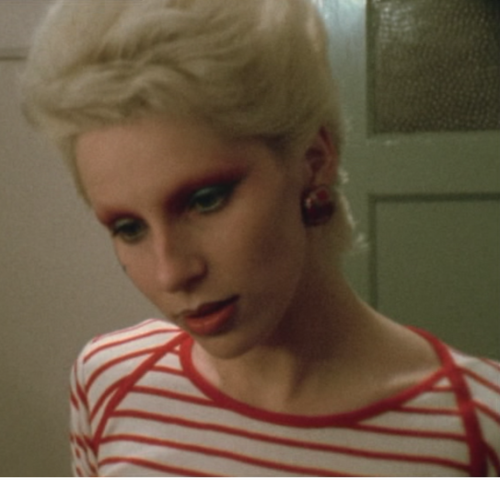 Angie Bowie backstage at the last Ziggy Stardust concert, 1973.