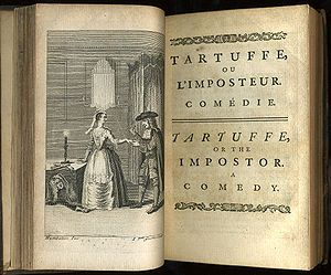 tartuffe by moliere frontispiece and titlepage of tartuffe  tartuffe by moliere 1664 frontispiece and titlepage of tartuffe or the imposter