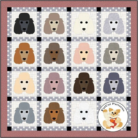 This is an electronic download. You will print the pattern yourself.This throw measures 64 x 64 inches Full sized templates Fusible appliqueBlocks measure 12.5 inches unfinished