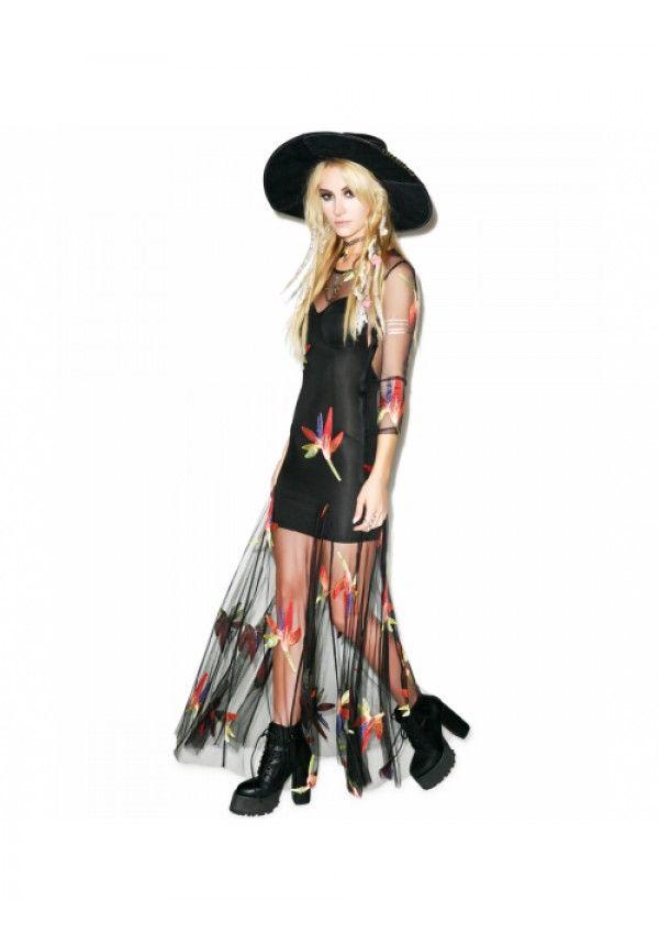 For Love & Lemons Birds Of Paradise Maxi Dress $298