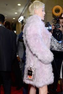 0346b1a73a87 OMG there is one on eBay guar like Miley's. Chanel Clear Plexiglass No 5 Perfume  Bottle Clutch Handbag Runway   eBay