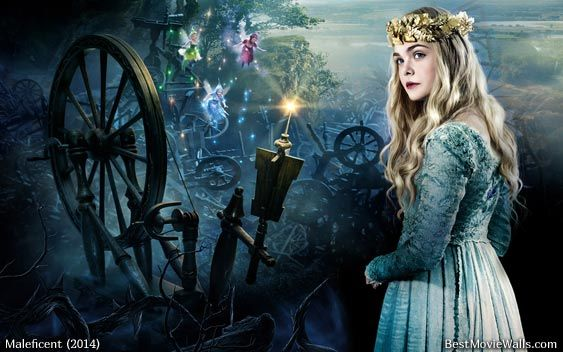 A wallpaper from Maleficent movie with Elle Fanning as the ...