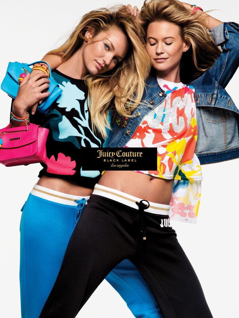 Candice and Behati look super hot for Juicy Couture!