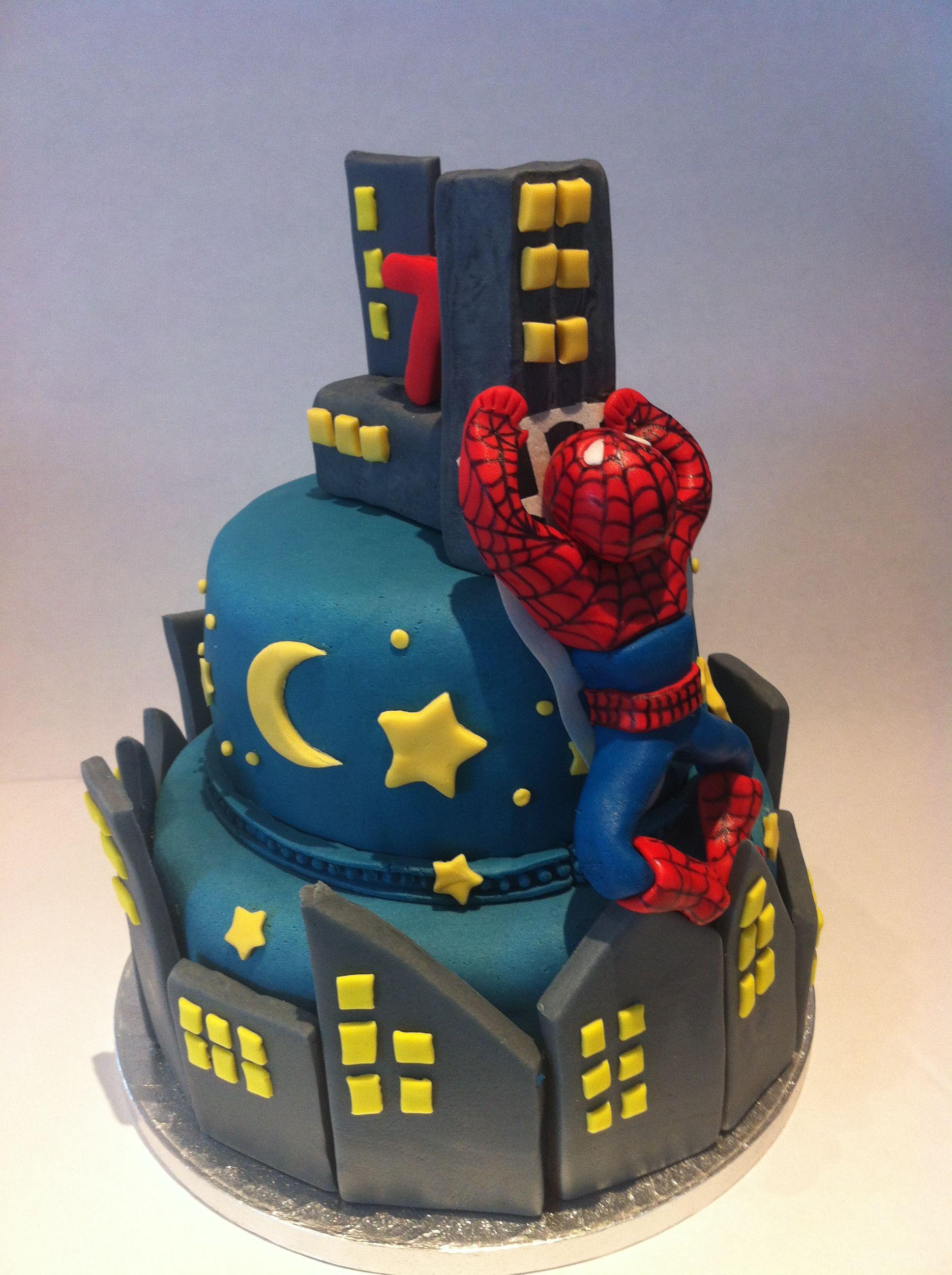 Spider-Man cake   Cake, Cakes for men, Cake decorating