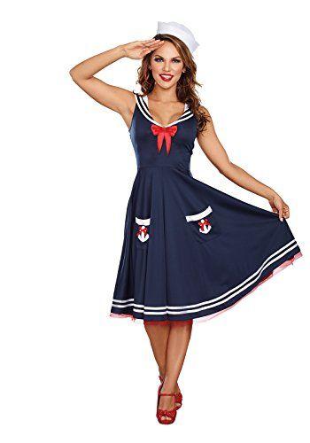 PLUS SIZE Women\u0027s Plus Size Blue Sailor Costume ca $39 Halloween - halloween costume ideas plus size