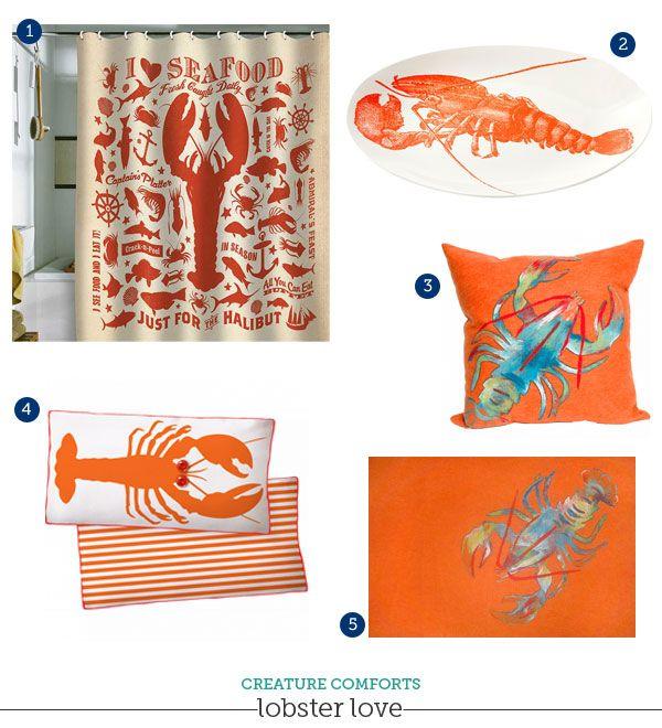 Beach Decor: Lobster love!