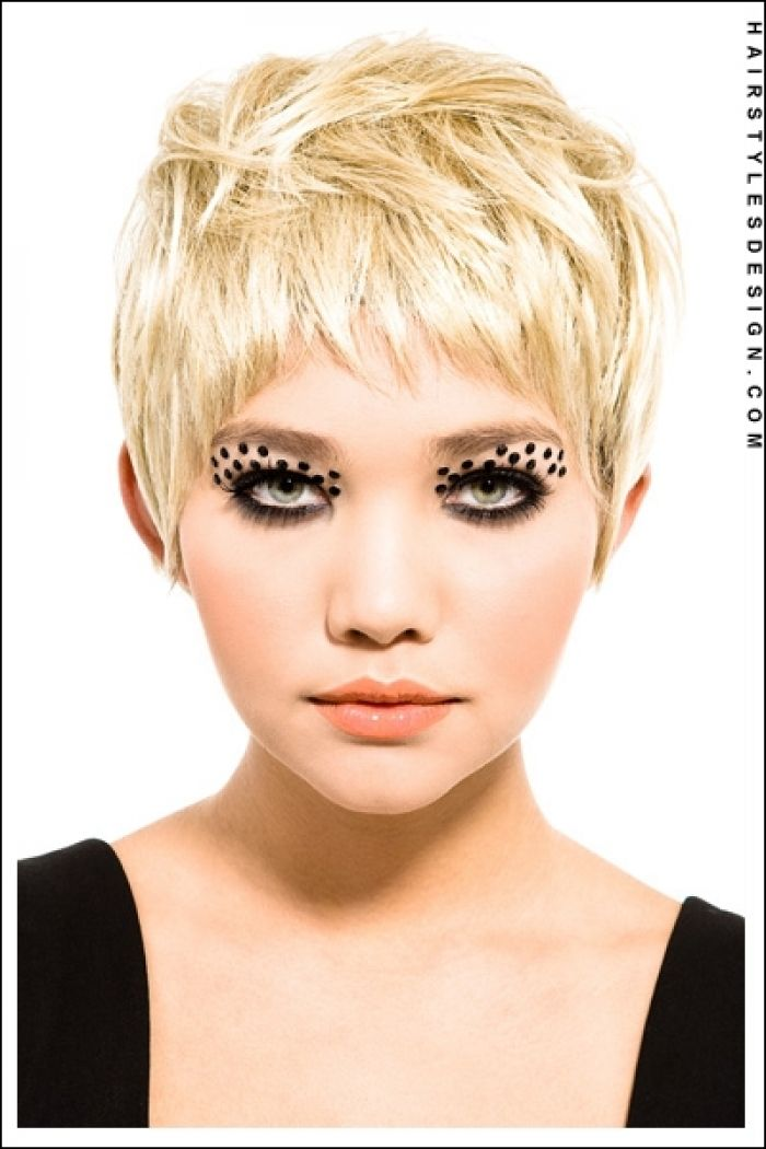 Funky Emo Haircuts Hairstyles Very Short And Female Design 400x600 Pixel