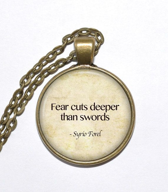 SYRIO FOREL QUOTE Necklace, Game of Thrones, Art Pendant Necklace, Inspirational Necklace, Handmade Jewelry, Glass Pendant