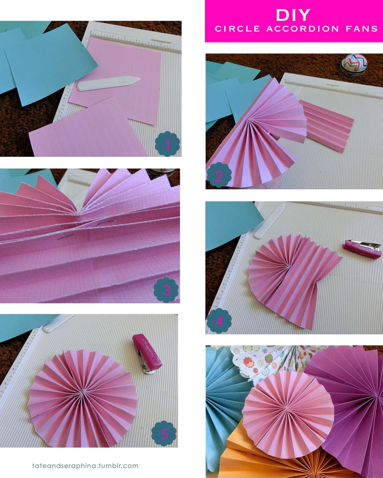 How to make a circle fan out of paper
