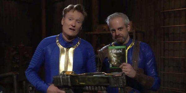 Conan O'Brien fallout 4 features on conan o'brien's clueless gamer