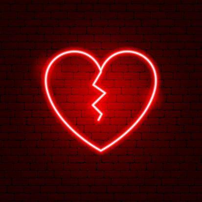 Page 24 Neon Art Broken Heart Wallpaper Broken Heart Emoji Neon Signs Broken heart dark emoji wallpaper