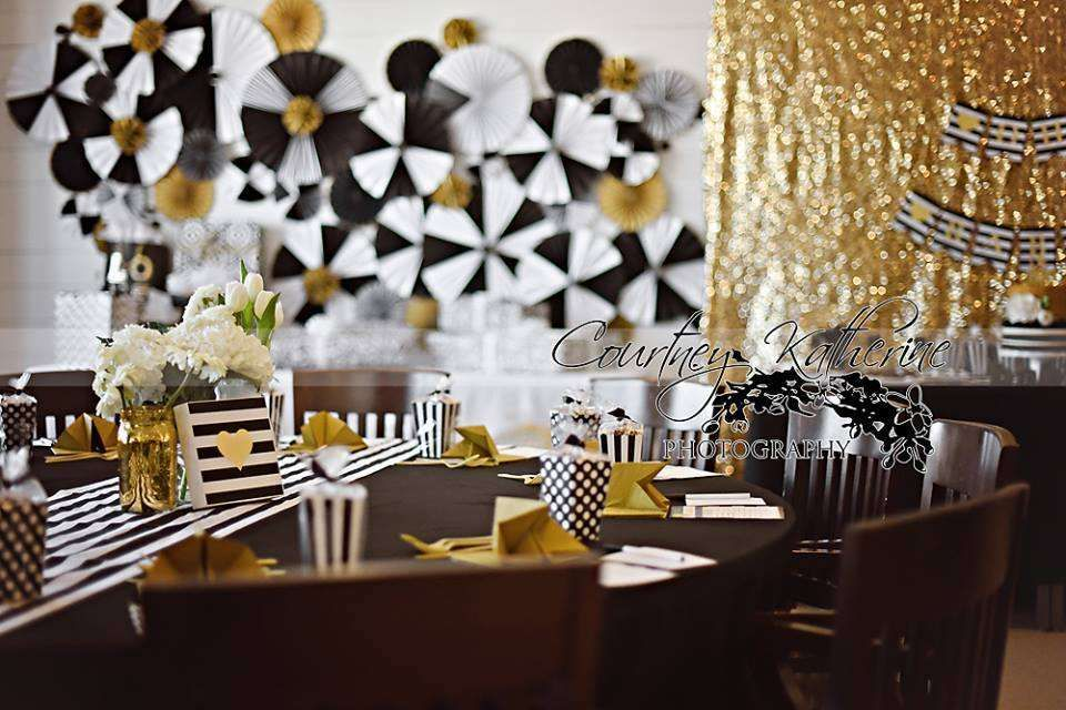 Black White Gold Baby Shower Party Ideas Gold Baby Showers