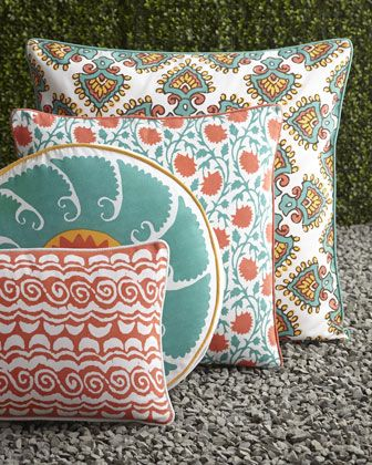 Brightly Patterned Pillows For Indoors And Outdoors From Neiman