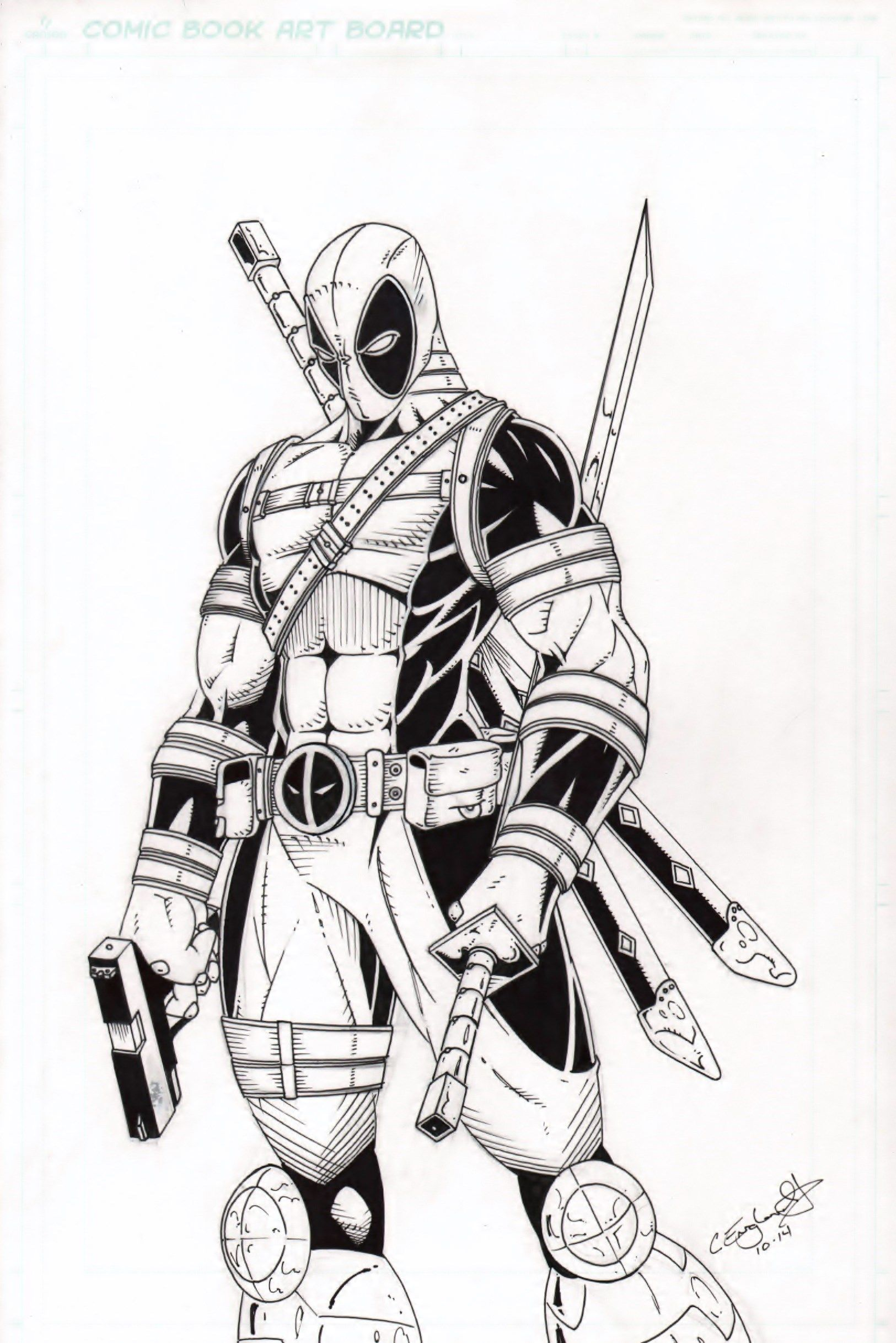 Cliff England Comic Art: Deadpool http://cliffengland.deviantart.com ...