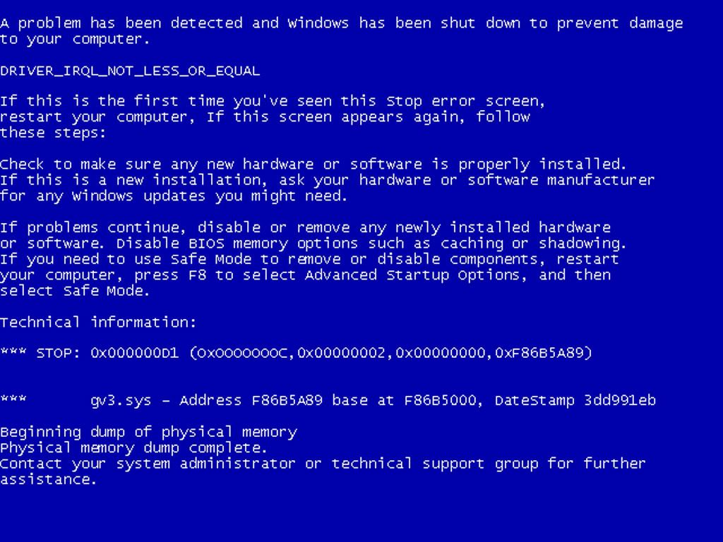 Blue Screen Error In Early Microsoft Windows Os Tela Azul Erro Windows Windows