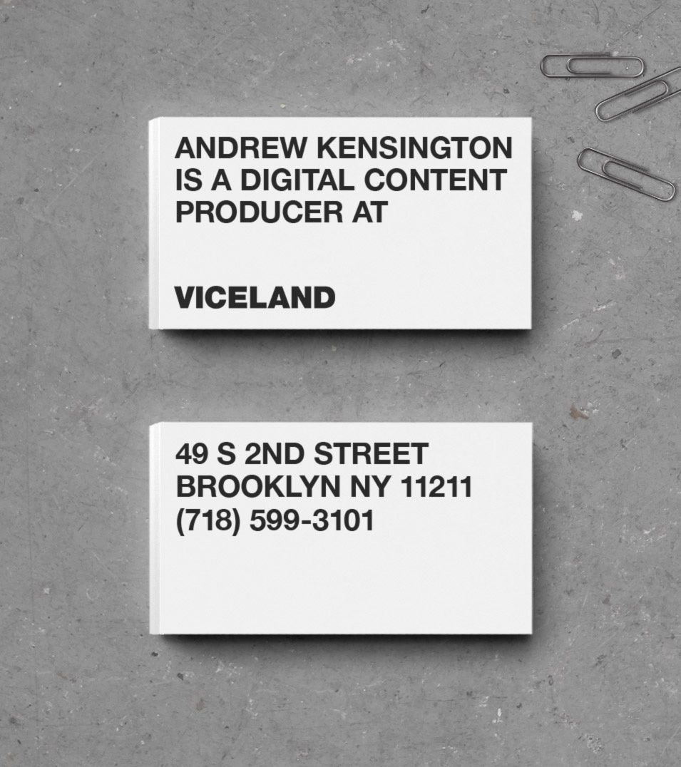 New Logo, Identity, and On-Air Package for Viceland by Gretel ...